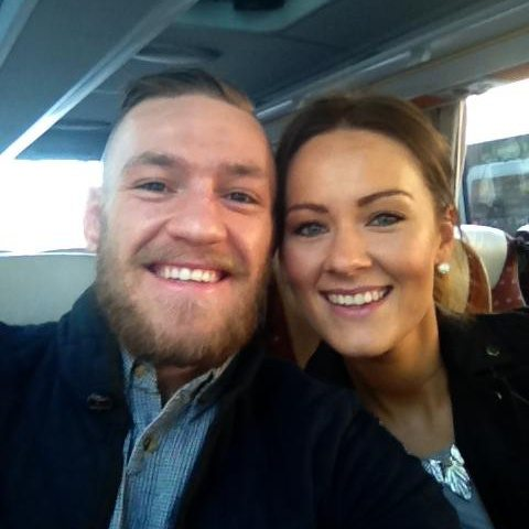 Conor McGregor and his partner, Dee Devlin, who's expecting the champ's baby