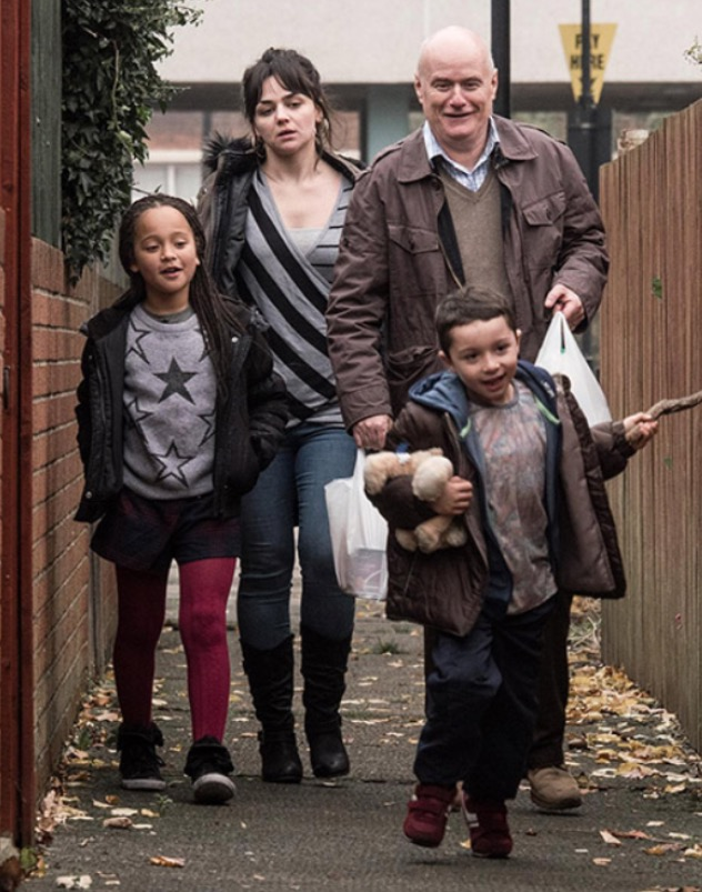 Hayley Squires, who plays the single mother in the film alongside, Dave Johns, as Daniel Blake