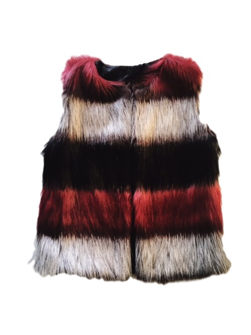 Faux Fur Striped Gilet, Wardrobe Wilderness; €30 Blackrock https://goo.gl/GVvbhF