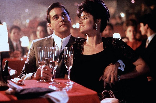 Karen and Henry with eyes on the prize in Goodfellas