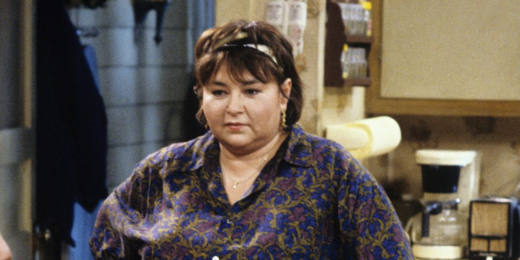 "UNITED STATES - FEBRUARY 02: ROSEANNE - ""Friends & Relatives"" 9/25/90 Tom Arnold, Roseanne Barr (Photo by ABC Photo Archives/ABC via Getty Images)"
